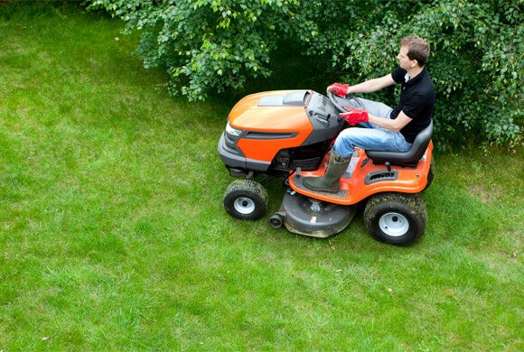 Equipped with ride-on mowers